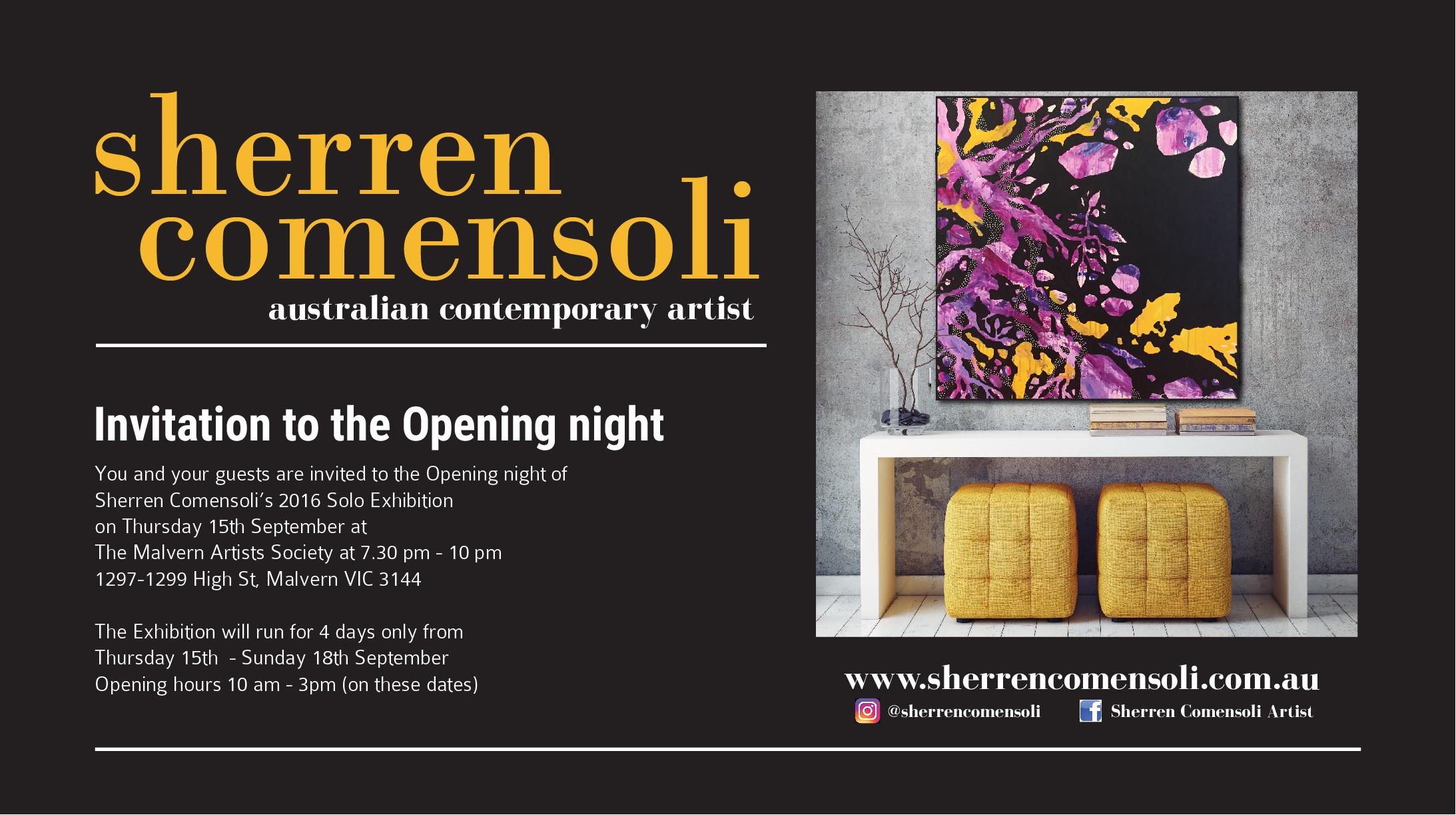 Sherren Comensoli Solo Exhibition 2016