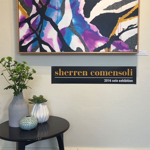 Sherren Comensoli 2016 Solo Exhibition in High street Malvern